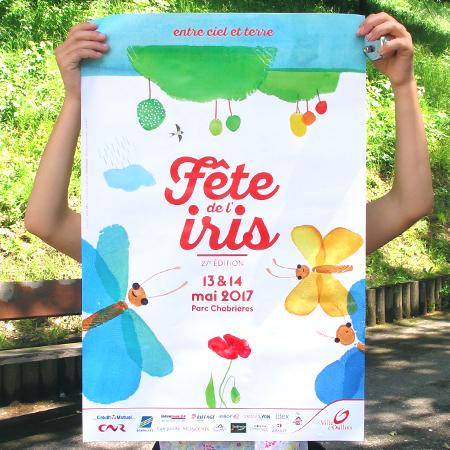 FÊTE DE L'IRIS /// Affiche, flyer, et autres supports de communication 2017 /// Ville d'Oullins