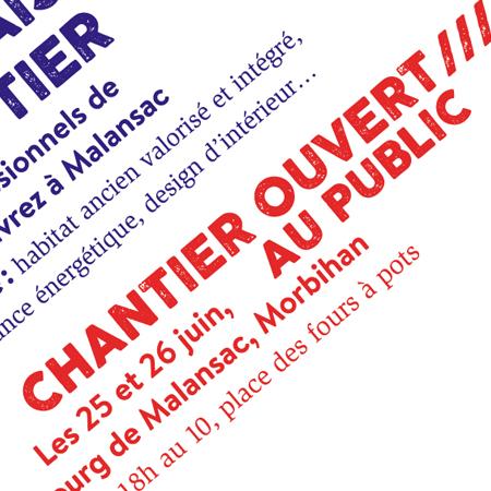 LA NOUVELLE VIE DE LA MAISON DU SABOTIER /// Affiche, flyer et encart-presse /// Les Ardoisières, Groupement d'entreprises